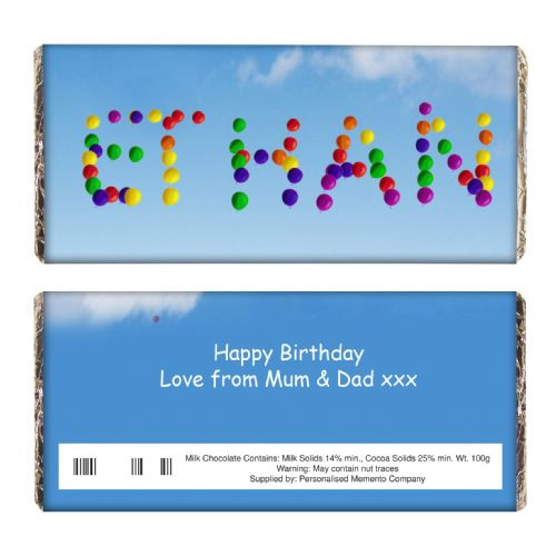 Personalised Balloons Chocolate Bar